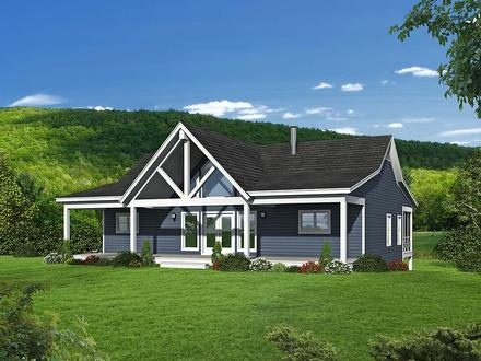 Country Farmhouse Ranch Traditional Elevation of Plan 40894