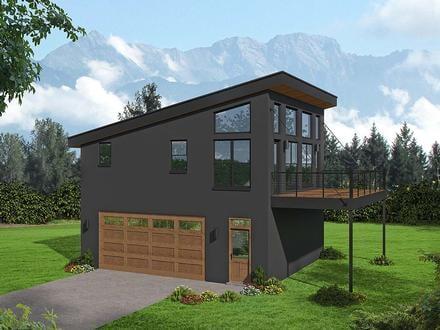 Garage-Living Plan 40897