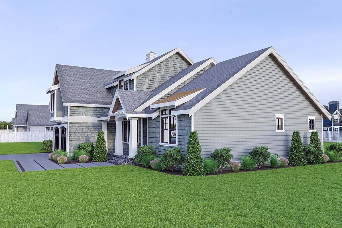 Coastal, Cottage, Craftsman House Plan 40912 with 3 Beds, 3 Baths, 2 Car Garage Picture 1