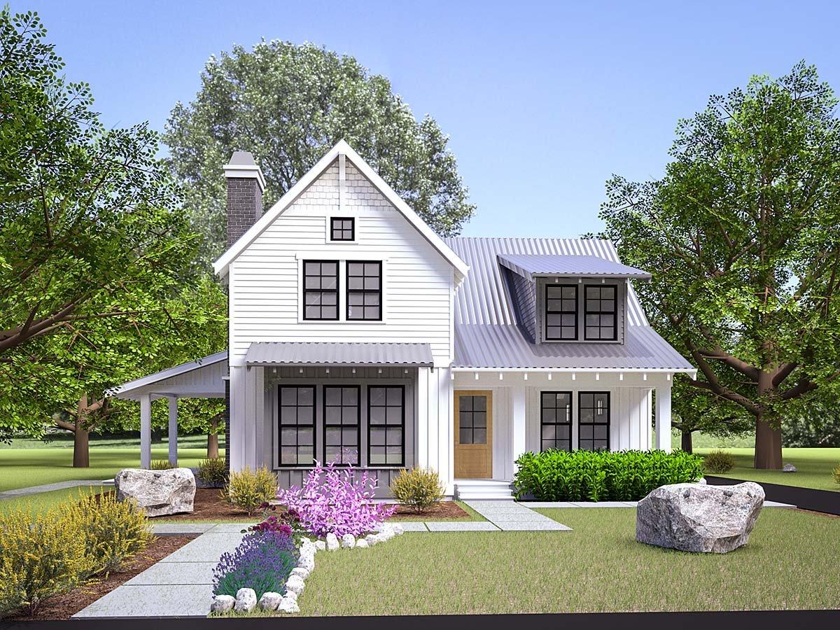 Craftsman House Plan 40916 with 3 Beds, 3 Baths, 2 Car Garage Elevation