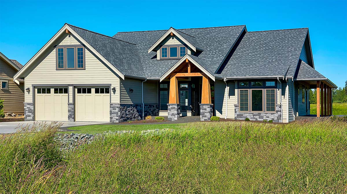 Country, Craftsman, Farmhouse House Plan 40922 with 3 Beds, 3 Baths, 2 Car Garage Picture 1