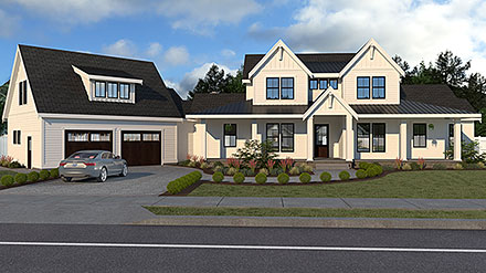 Country Farmhouse Elevation of Plan 40951