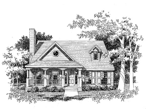 Country Southern House Plan 41003 Elevation