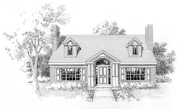Cape Cod Colonial House Plan 41008 Elevation