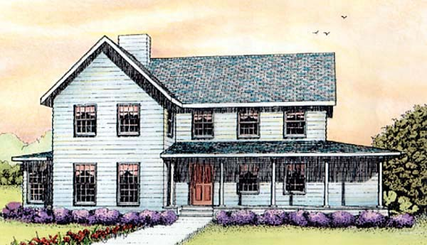Country Farmhouse House Plan 41013 Elevation