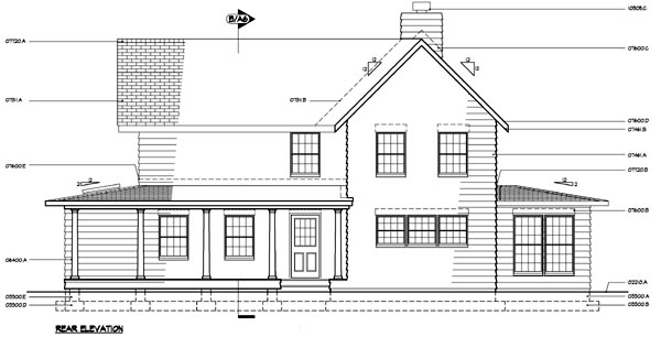 Country Farmhouse House Plan 41013 Rear Elevation