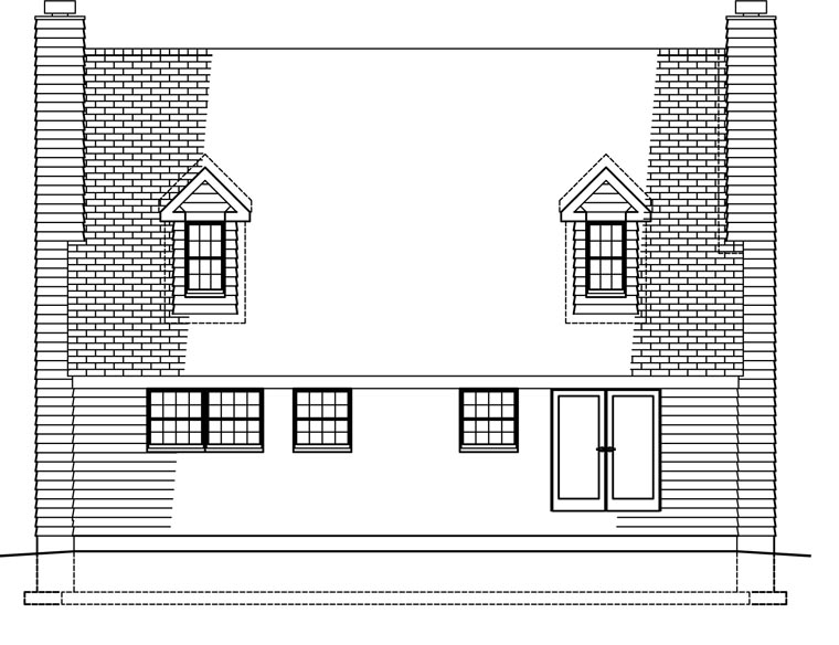Country House Plan 41021 Rear Elevation