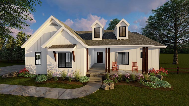 Traditional House Plan 41100 Elevation