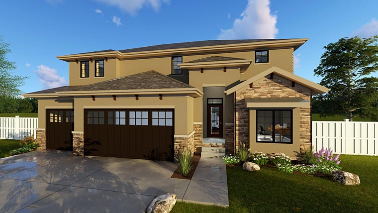 House Plan 41104 Elevation