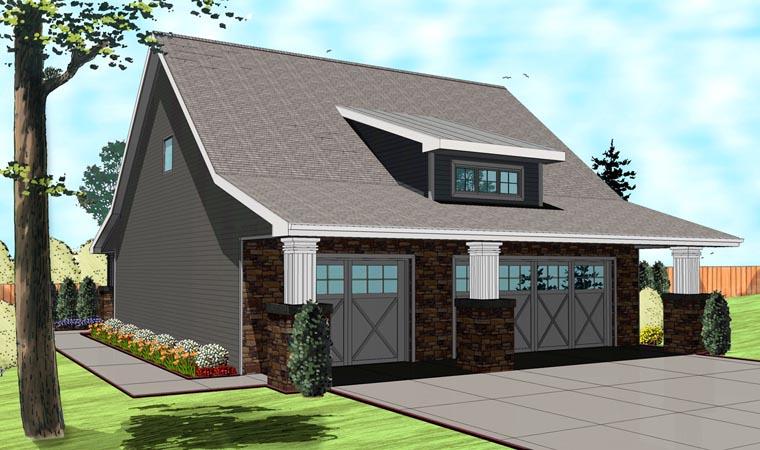 Traditional Garage Plan 41110