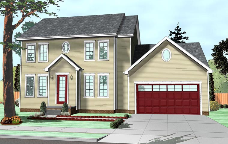 Colonial Traditional House Plan 41111 Elevation