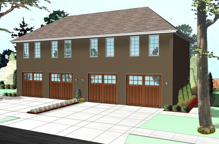 Colonial Traditional Garage Plan 41112 Elevation
