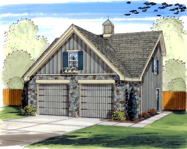 Traditional Garage Plan 41122 Elevation