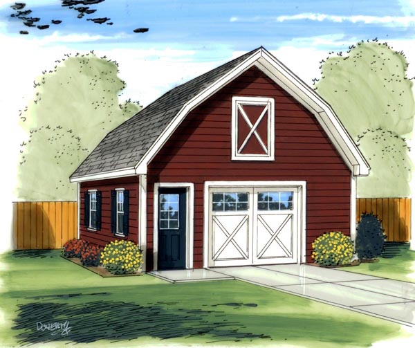 Elevation of Farmhouse  Traditional   Garage Plan 41136