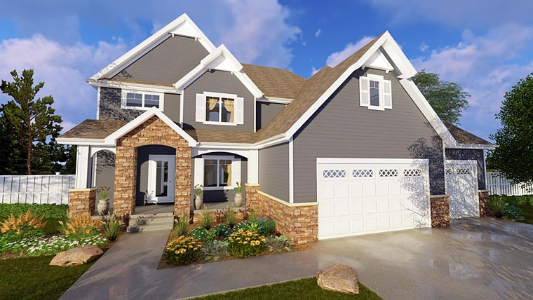 Craftsman House Plan 41146 Elevation