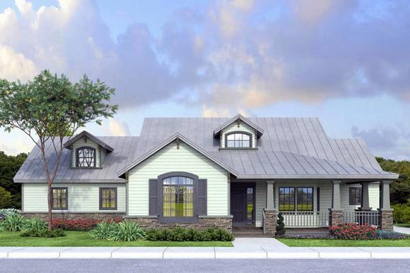 Country, Ranch, Traditional House Plan 41148 with 3 Beds, 2 Baths, 2 Car Garage Elevation