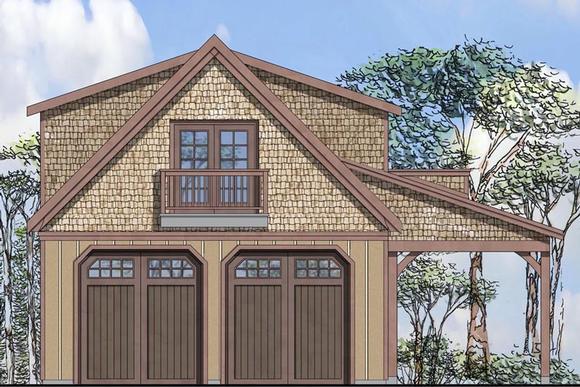 Craftsman 2 Car Garage Plan 41154 Elevation
