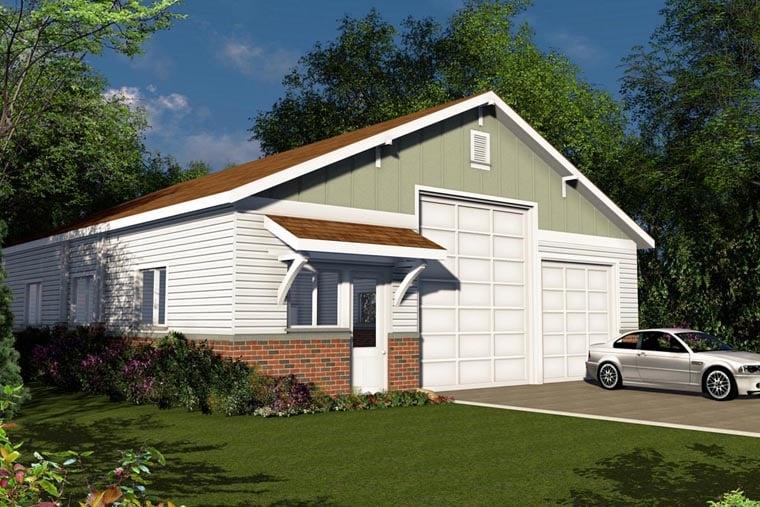 Traditional Garage Plan 41155 Elevation