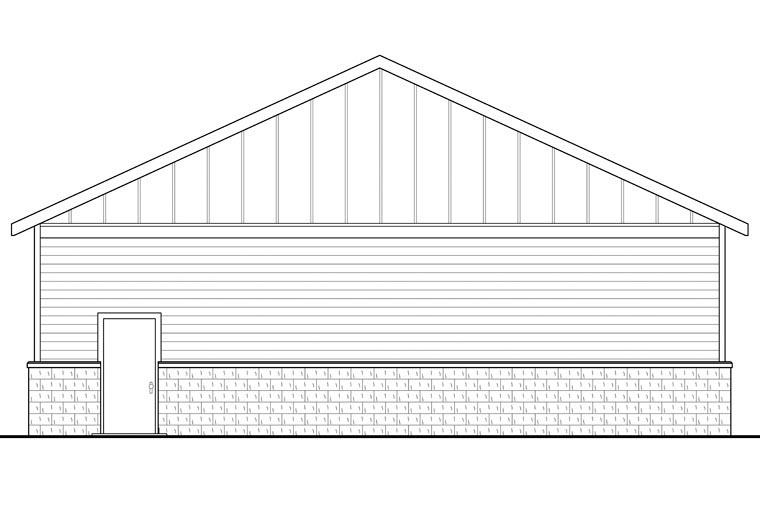 Traditional Garage Plan 41155 Rear Elevation
