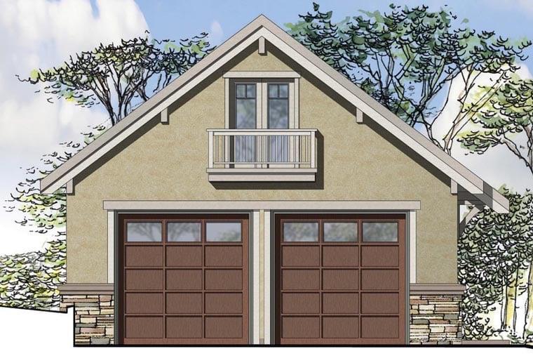 European Garage Plan 41158 Elevation