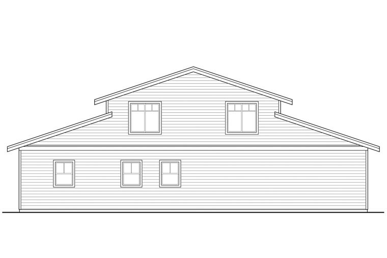 Country Garage Plan 41159 Rear Elevation