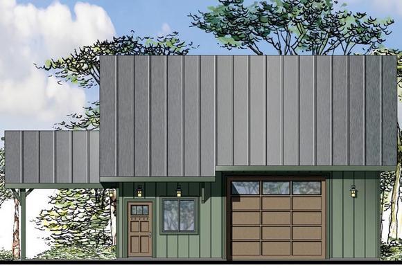 Craftsman 2 Car Garage Plan 41160 Elevation