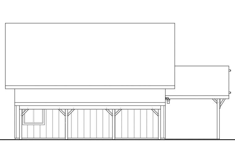 Craftsman Garage Plan 41160 Rear Elevation