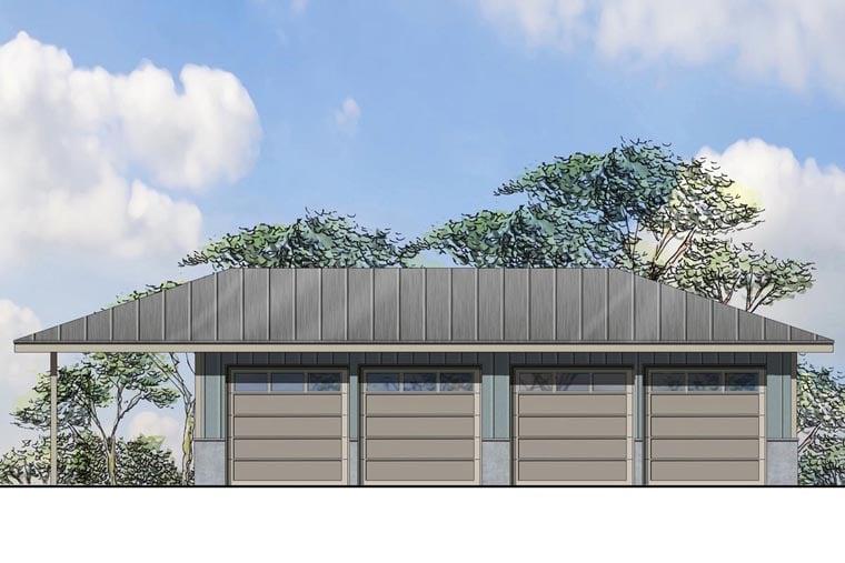 Traditional Garage Plan 41161 Elevation