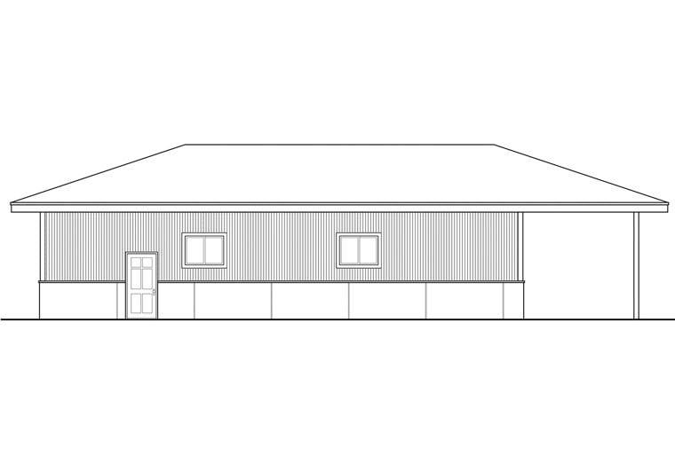 Traditional Garage Plan 41161 Rear Elevation
