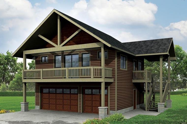 Craftsman Garage Plan 41162 Elevation