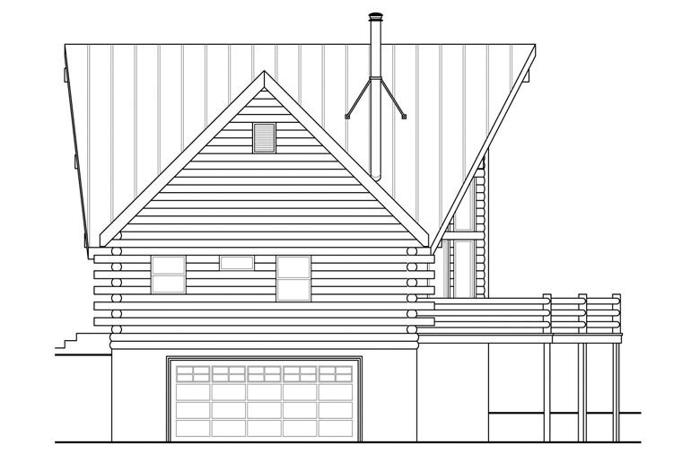A-Frame, Cottage House Plan 41165 with 2 Beds, 3 Baths, 2 Car Garage Picture 1