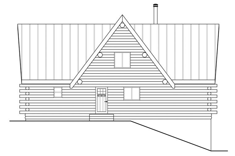 A-Frame, Cottage House Plan 41165 with 2 Beds, 3 Baths, 2 Car Garage Picture 3