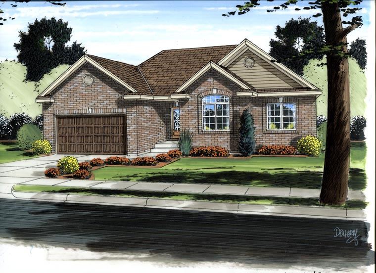 Traditional House Plan 41173 Elevation