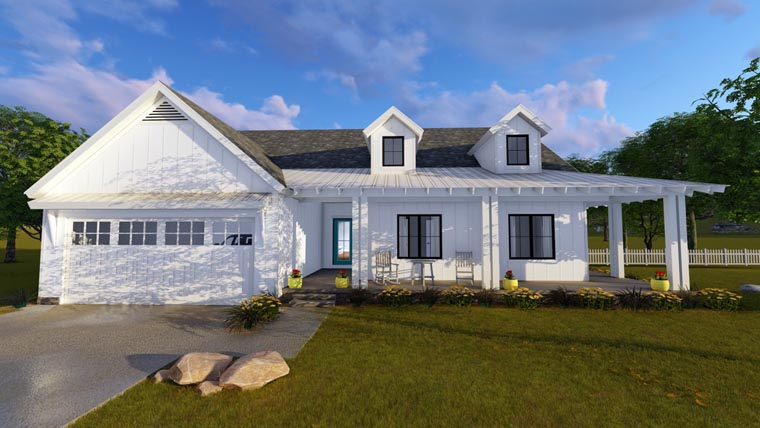 Country Southern House Plan 41175 Elevation