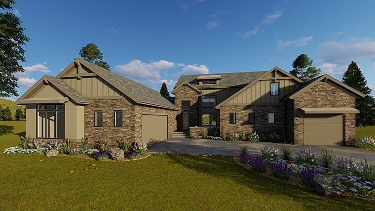 Craftsman Traditional Tudor House Plan 41182 Elevation