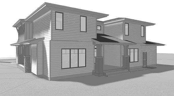 Contemporary Prairie Style Southwest House Plan 41183 Rear Elevation