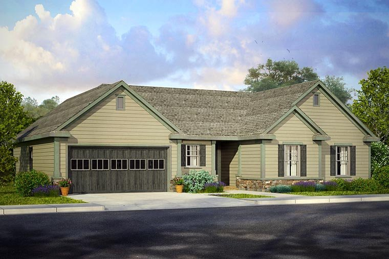 Country Ranch Traditional House Plan 41202 Elevation