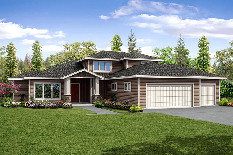 Contemporary Prairie Style Southwest House Plan 41239 Elevation