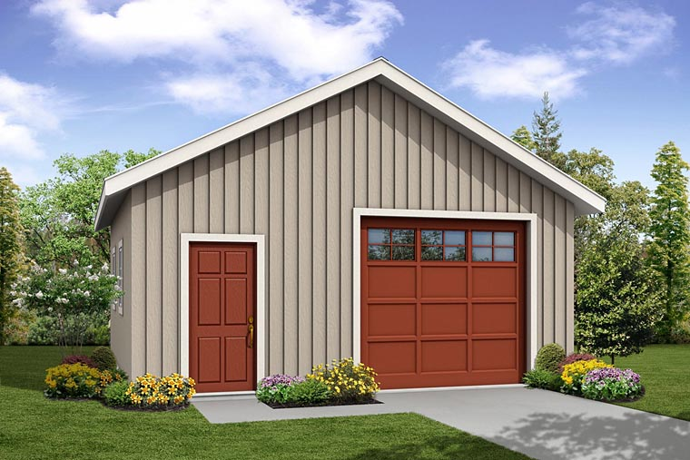 Traditional Garage Plan 41241 Elevation