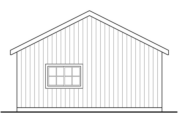 Traditional Garage Plan 41241 Rear Elevation