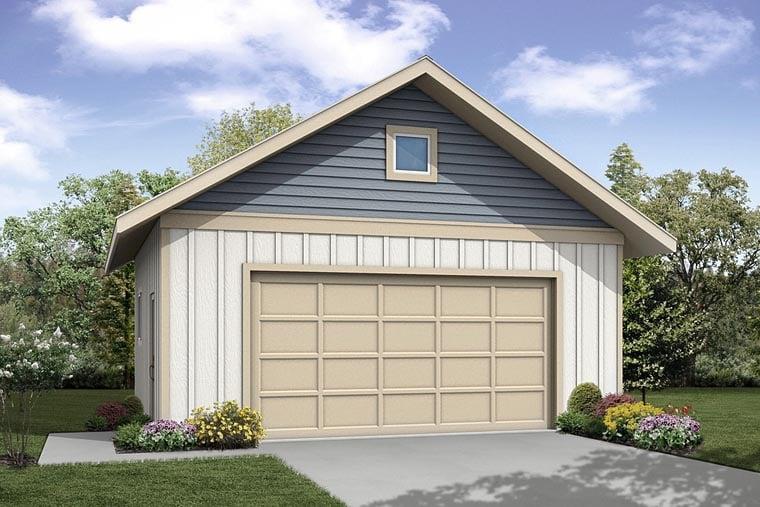 Traditional Garage Plan 41242 Elevation