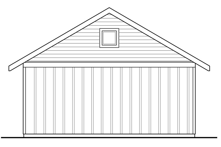 Traditional Garage Plan 41242 Rear Elevation