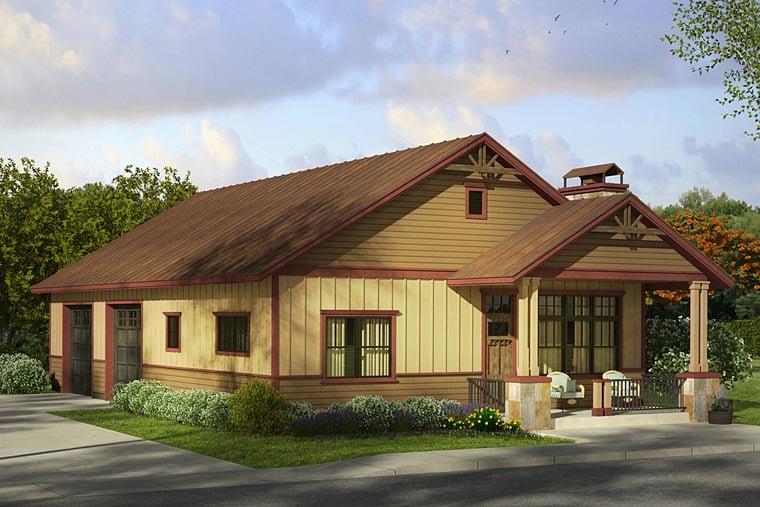 Craftsman Garage Plan 41243 Elevation