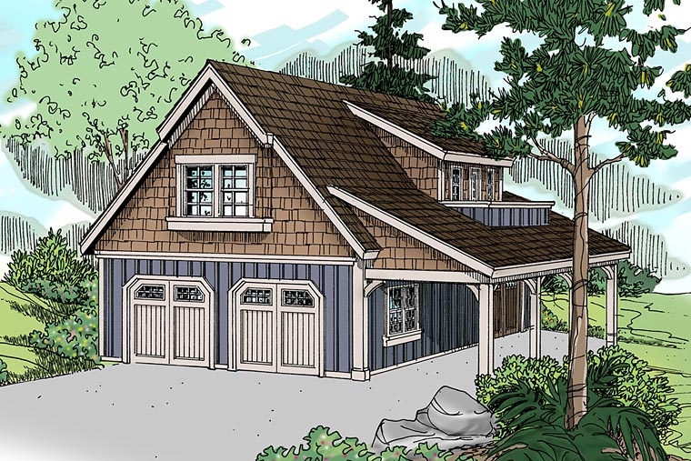 Craftsman Traditional Garage Plan 41246 Elevation