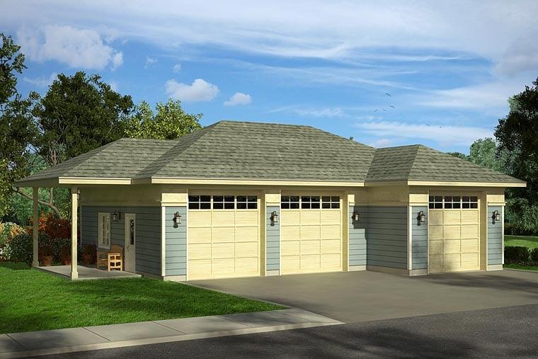 Traditional Garage Plan 41247 Elevation