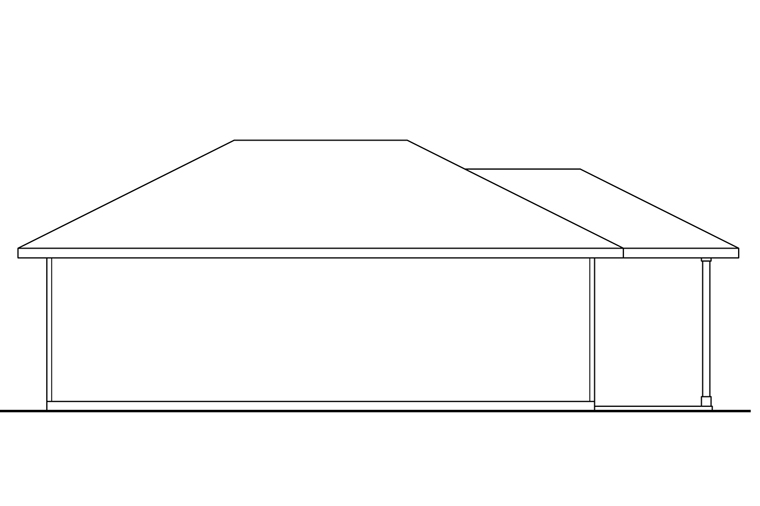 Traditional Garage Plan 41247 Rear Elevation