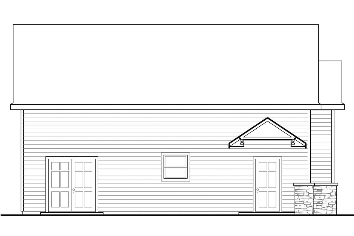 Traditional 2 Car Garage Plan 41248, RV Storage Picture 2