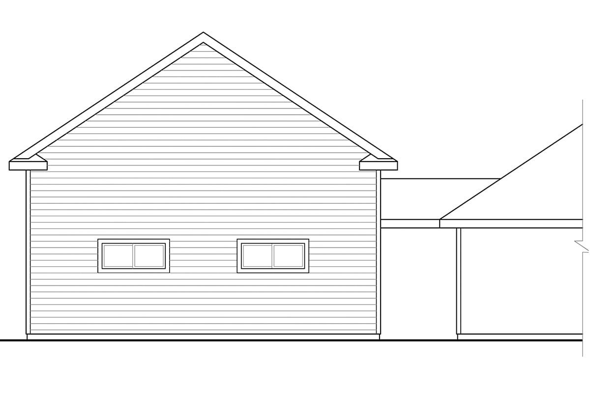 Traditional Garage Plan 41248 Rear Elevation
