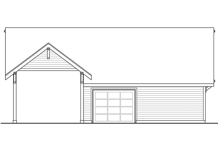 Craftsman Ranch Traditional Garage Plan 41273 Rear Elevation
