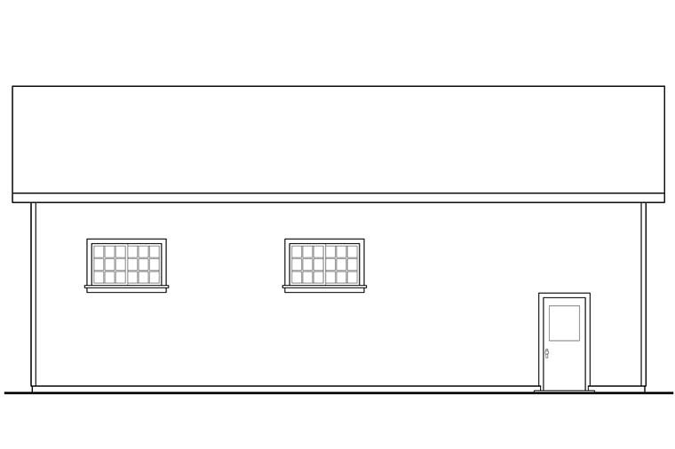 Traditional 3 Car Garage Plan 41274, RV Storage Picture 1